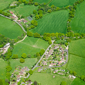 Photo of the Village of Capel from the air